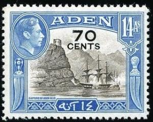 Colnect-559-753-Capture-of-Aden-1839-surcharged-with-new-value.jpg