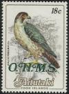 Colnect-3873-081-Peregrine-Falcon-Falco-peregrinus-overprinted-OHMS.jpg