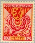 Colnect-166-636-Rose--amp--coat-of-arms-of-Zuid-Holland-province.jpg