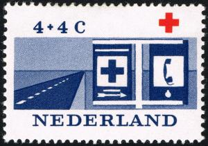Colnect-2192-893-Road-with-red-cross-and-alarm-signs.jpg