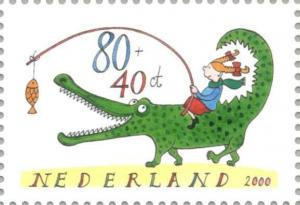 Colnect-181-702-Girl-on-a-crocodile.jpg