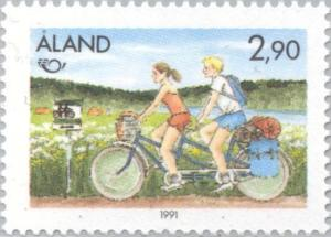 Colnect-160-736-Tourism---tandem-bicycle.jpg