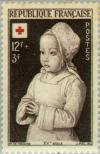 Colnect-143-792-Royal-child-in-prayer-according-to-the-Master-of-Moulins.jpg