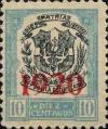 Colnect-2432-633-Coat-of-arms-with-brick-red-print-of-the-year-1920.jpg